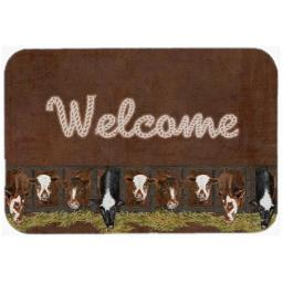 Carolines Treasures SB3058LCB Welcome Mat With Cows Glass Cutting Board - Large SB3058LCB