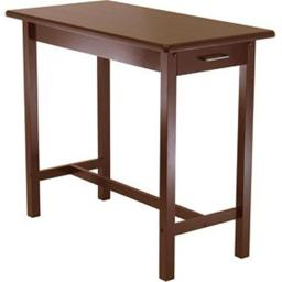 Winsome 94540 Kitchen Island Table with 2 Drawers - Antique Walnut
