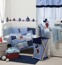 [Blue Mickey Mouse] Crib bedding Collection Accessory - Dresser Cover