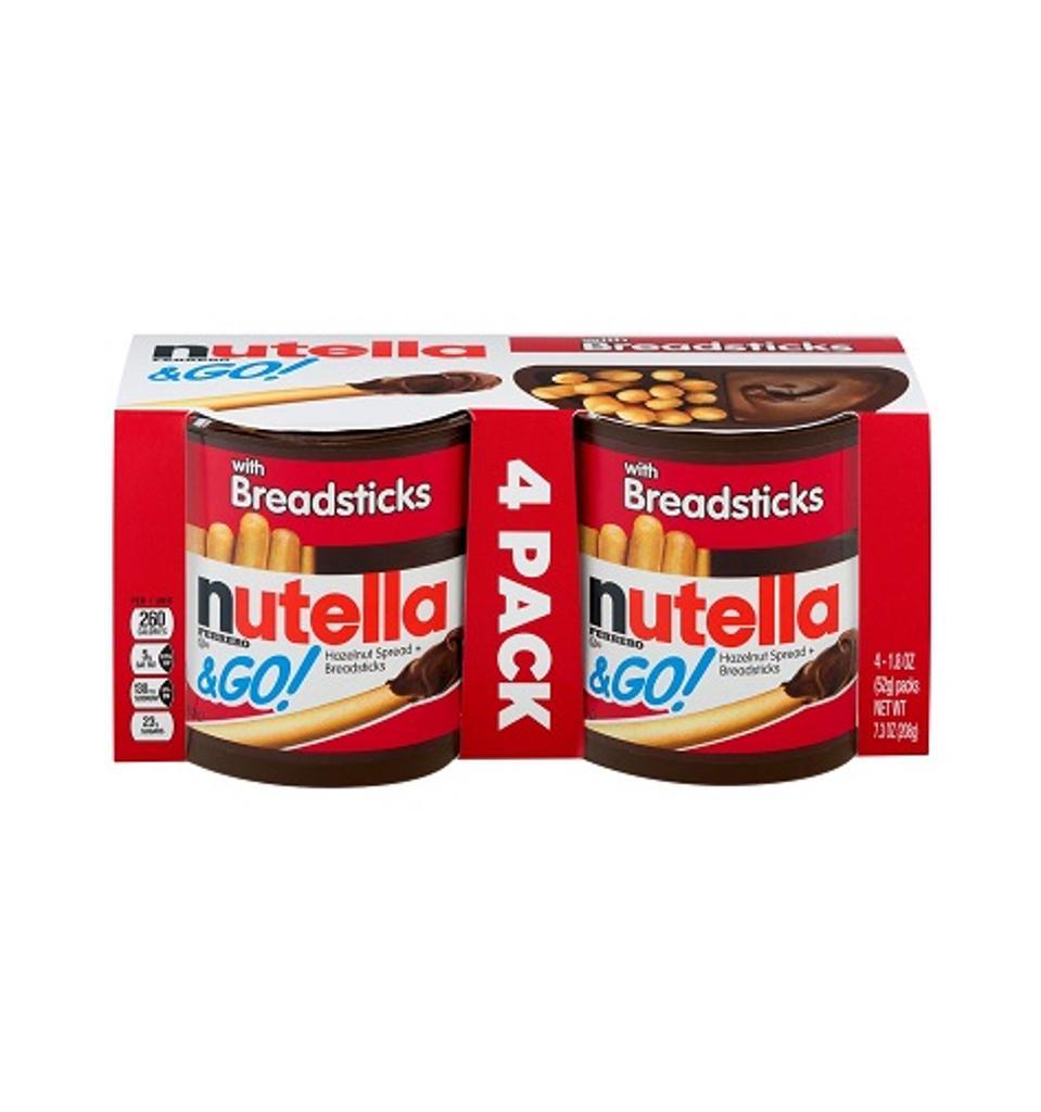 Nutella Ferrero & Go Hazelnut Spread and Breadsticks