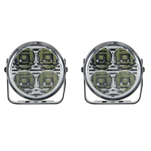 Pilot Automotive NV-2037W 3 In. Round 4 LED Daytime Running Lamp Accent Light