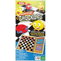 Magnetic Go Travel Game Checkers