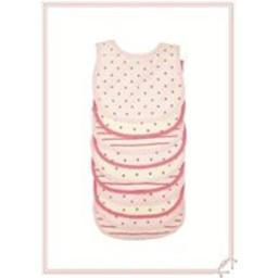 BornCare BCWC 07 Baby Bibs Snaps, AOP - Pack of 10
