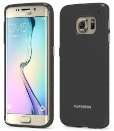 PUREGEAR BLACK SLIM SHELL CASE COVER FOR SAMSUNG GALAXY S6 EDGE SM-G925