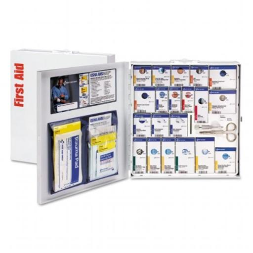 First Aid Only FAO746006 50 Person Metal Smart Compliance Food Service Cabinet, ANSI A Plus Compliant, Type I & II without Medication - Large