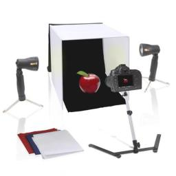 Pyle PSTDKT4 16 in. Studio Photo Light Booth, Image & Photography Kit