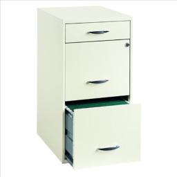 18 in. File 3-Drawer Prl - White