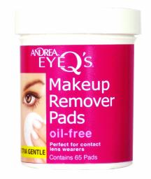 Ardrea Eye Q's Oil Free Pads, 65 Ct