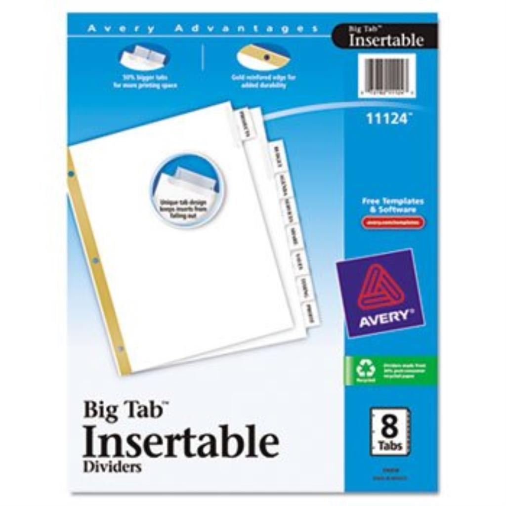 AVE11124 - Avery WorkSaver Big Tab Insertable Tab Divider