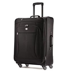 "American Tourister Luggage Pop Extra 25"" Spinner Suitcase (25"", Black)"