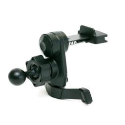 iTrek GPS air vent mount with metal spring clips compatible with Garmin Nuvi GPS