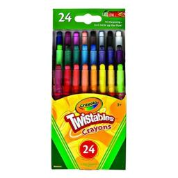 Crayola Twistables Mini Crayons 24 ea (Pack of 6)
