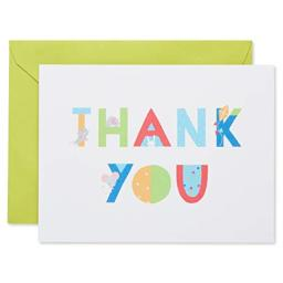 American Greetings Thank You Cards with Envelopes, Baby Icons (50-Count)