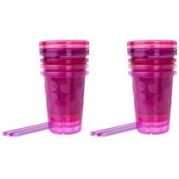 The First Years Straw Cup, Pink Take and Toss, 10 Ounce - 8 Cups