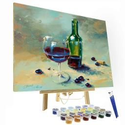 A Glass Half Full Paint By Number Painting Set