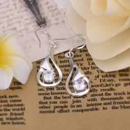 Italy Drop Earring in 18K White Gold Plated