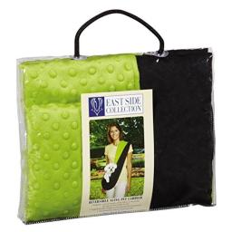 East Side Collection Reversible Sling Pet Carriers - Brightly Colored Polyester Over-the-Shoulder Carriers for Small Dogs, Black and Green
