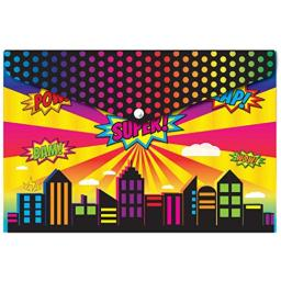 Ashley productions decorated poly folder super city 90000