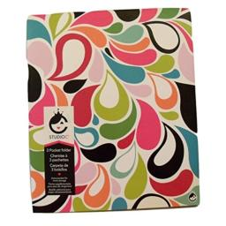 Studio C Carolina Pad Tri-fold 3-Pocket Folder, Sugarland (Flower Petals)