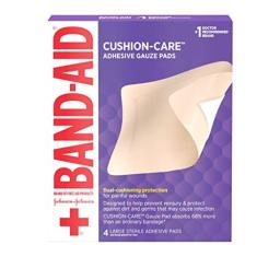 Band-Aid All-in-One Adhesive Gauze Pads Large - 4 ct
