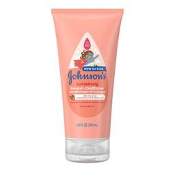 Johnson's Baby Curl Defining Tear-Free Kids Leave-in Shea Butter Conditioner, 6.8 fl. oz.