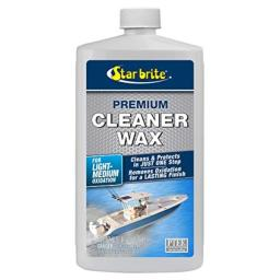 STAR BRITE One-Step Heavy Duty Cleaner Wax with PTEF - Removes Oxidation - Restores & Protects