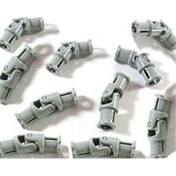 LEGO Technic - 10 x small universal joint in new light grey, 3 studs long