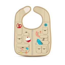 Fred Chill Baby, Dressed to Spill - Fisherman's Vest Bib Set with Worm Teether...