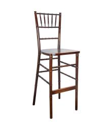Offex Stackable Traditional Fruitwood Chiavari Bar Stools