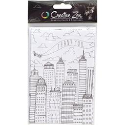 American Craft 374782 Creative Zen Cards-Airplane