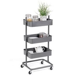 3 Tier Metal Rolling Utility Storage Cart