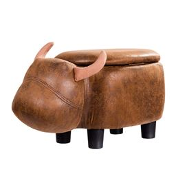 Buffalo Upholstered Ride-on Storage Ottoman Footrest