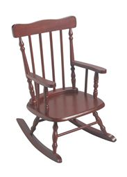 Gift Mark Childrens Rocking Chair - Cherry
