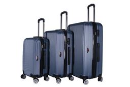 Brio Luggage Hardside Spinner Luggage Set #1310 - Navy