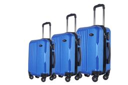 Brio Luggage Hardside Spinner Luggage Set #1701 - Blue