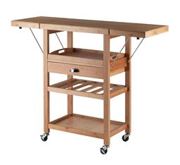 Winsome Barton Drop Leaf Kitchen Cart - Bamboo