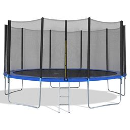 15' Trampoline Combo Bounce Jump Safety Enclosure Net with Ladder