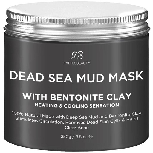 Dead Sea Mud Mask with Bentonite Clay - By Radha Beauty