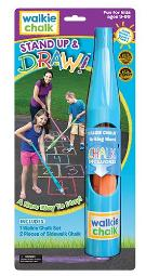 Walkie Chalk Standup Sidewalk Chalk Holder Teal Creative Outdoor Toy For Kids And Adults