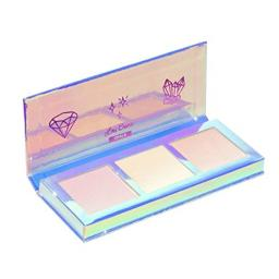 Lime Crime Hi-Lite Opals Highlighter Palette - Opalesecent Powder Trio - For All Skin Tones - In 3 Shades, Pink, Gold & Peach - For Face or Body - Vegan