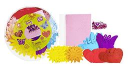 Creative Hands Flowers Hearts and Butterflies Party Platter Stickers