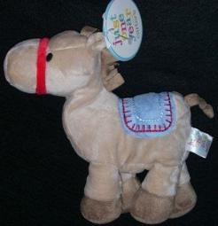 Carters Just One Year Plush Horse Lovey Baby