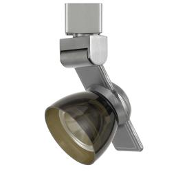 12W Integrated LED Track Fixture with Polycarbonate Head, Silver and Black