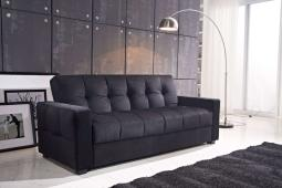 Sofa With Storage And Pocket Coil Spring Cushion, Black