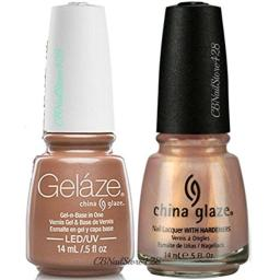 China Glaze Gelaze Tips and Toes Nail Polish, Camisole, 2 Count