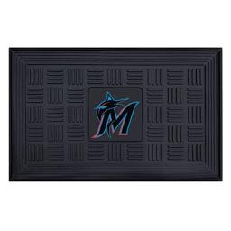 Fanmats 11299 MLB Miami Marlins Vinyl Medallion Door Mat