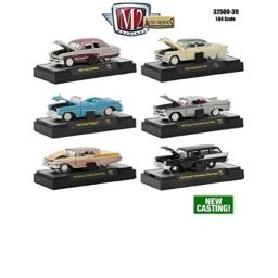 M2 Machines 1:64 Collection - AUTO-THENTICS Release 39 in Acrylic Cases Diecast Model Car Set of 6 Cars