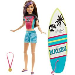 Barbie Barbie Dreamhouse Adventures Skipper Surf Doll Approx 11 Inch In Surfing Fashion With Surfboard And Accessories Gift For 3 To 7 Year Olds Mattel Massgenie Com