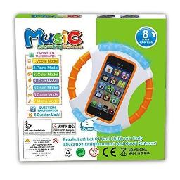 Kids Educational Learning cell Phone Has Music-games-Numbers-Fruits-Animals--Voice Tells When Your child Answers Right or Wrong--comes With A 30 Day Money Back gruarantee