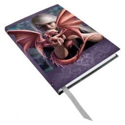 Anne Stokes Once Dragonkin Fairy Dragon Bond Hard Cover Embossed Journal Book by ATL